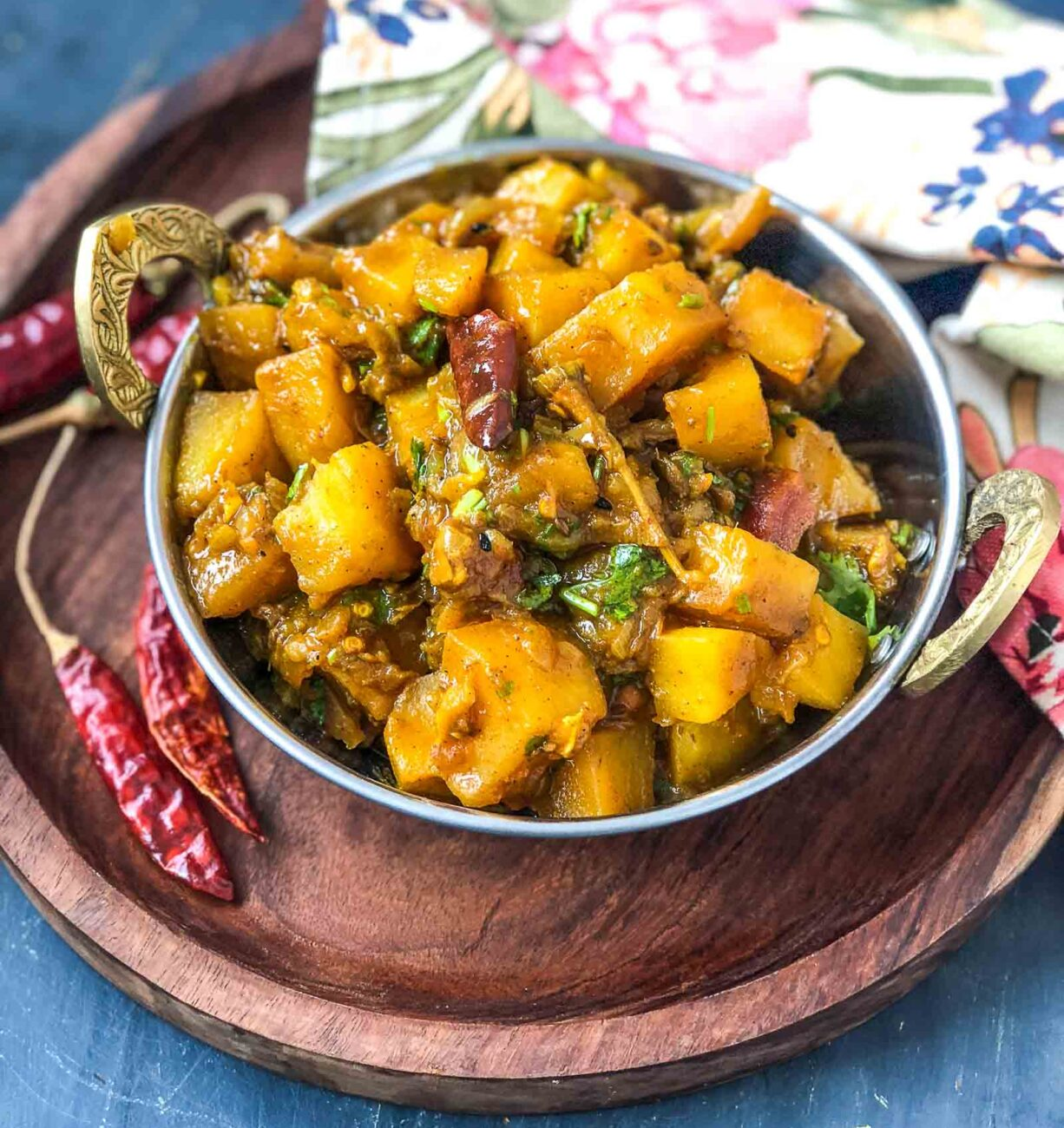 South Indian Style Potato and Eggplant Curry