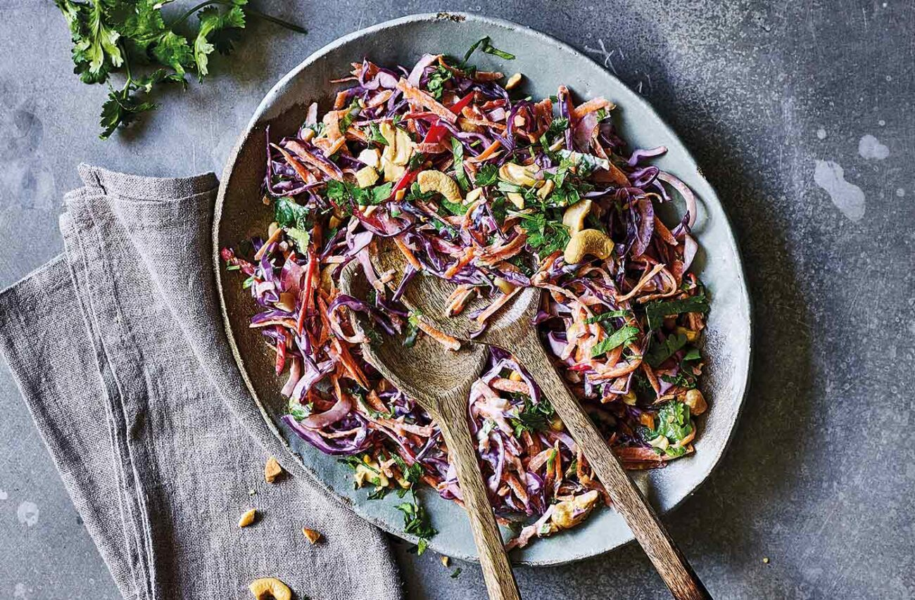 Cabbage & Carrot Indian Salad