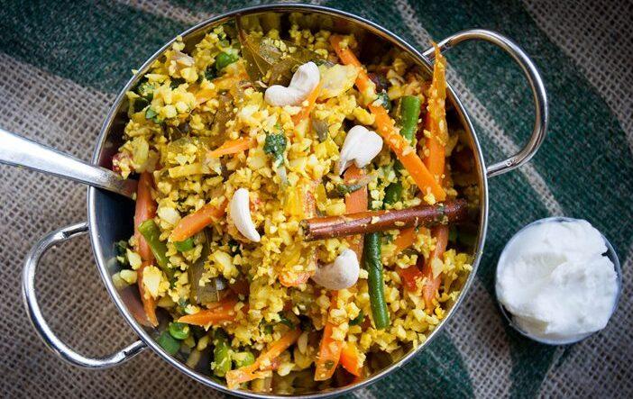 Indian Cauliflower Fried Rice